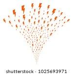 electric strike stream fountain....   Shutterstock .eps vector #1025693971