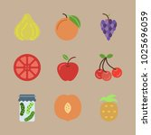 icons fruits and vegetables... | Shutterstock .eps vector #1025696059