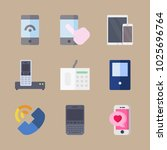 icons phones with tablet ... | Shutterstock .eps vector #1025696764