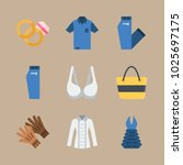 icons clothes and accessories... | Shutterstock .eps vector #1025697175