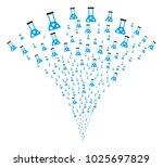 chemistry explosion fountain.... | Shutterstock .eps vector #1025697829