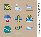 icons transport with departure... | Shutterstock .eps vector #1025699551