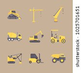 icons construction machinery... | Shutterstock .eps vector #1025701651