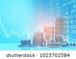 stock market or trading graph... | Shutterstock . vector #1025702584