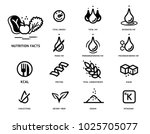 nutrition facts icon concept.... | Shutterstock .eps vector #1025705077