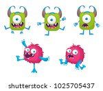 monster vector illustration  | Shutterstock .eps vector #1025705437