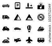 solid vector icon set   airport ... | Shutterstock .eps vector #1025712349