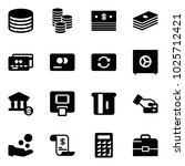 solid vector icon set   coin... | Shutterstock .eps vector #1025712421