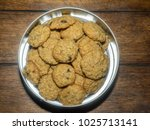 making oatmeal cookies at home...   Shutterstock . vector #1025713141