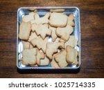 making shortbread cookies at...   Shutterstock . vector #1025714335