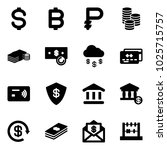 solid vector icon set   dollar... | Shutterstock .eps vector #1025715757