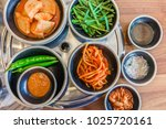top view of korean side dishes... | Shutterstock . vector #1025720161