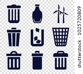 recycle icons. set of 9... | Shutterstock .eps vector #1025720809