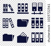 organize icons. set of 9... | Shutterstock .eps vector #1025722561