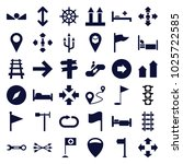 direction icons. set of 36... | Shutterstock .eps vector #1025722585