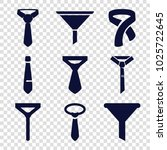 neck icons. set of 9 editable... | Shutterstock .eps vector #1025722645