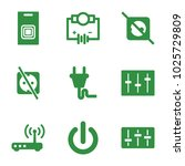 switch icons. set of 9 editable ... | Shutterstock .eps vector #1025729809