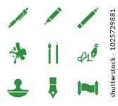 ink icons. set of 9 editable...   Shutterstock .eps vector #1025729881