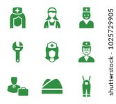 profession icons. set of 9... | Shutterstock .eps vector #1025729905