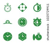 second icons. set of 9 editable ... | Shutterstock .eps vector #1025729911