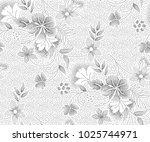 abstract flower seamless... | Shutterstock . vector #1025744971