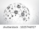 world map point and line...   Shutterstock .eps vector #1025746927