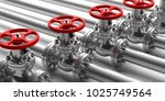industrial pipelines and valves ... | Shutterstock . vector #1025749564