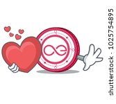 with heart aeternity coin... | Shutterstock .eps vector #1025754895