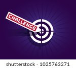 motivation quote challenge.... | Shutterstock .eps vector #1025763271