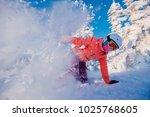 action snapshot of snowboarder...   Shutterstock . vector #1025768605