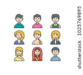 people avatar icon set vector... | Shutterstock .eps vector #1025769895