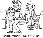 boy eating a sandwich | Shutterstock .eps vector #1025772205