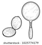 hand mirror illustration ... | Shutterstock .eps vector #1025774179