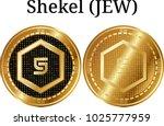 set of physical golden coin... | Shutterstock .eps vector #1025777959
