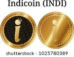 set of physical golden coin... | Shutterstock .eps vector #1025780389