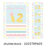 birthday party invitation card  ... | Shutterstock .eps vector #1025789605