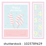 birthday party invitation card  ... | Shutterstock .eps vector #1025789629