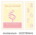 birthday party invitation card  ... | Shutterstock .eps vector #1025789641