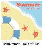 summer holiday concept vector... | Shutterstock .eps vector #1025794435