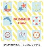 summer holiday concept vector... | Shutterstock .eps vector #1025794441