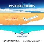 set of passenger airlines...   Shutterstock .eps vector #1025798134