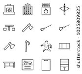flat vector icon set  ... | Shutterstock .eps vector #1025809825