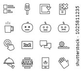 flat vector icon set   comments ... | Shutterstock .eps vector #1025811235