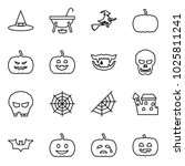 flat vector icon set   witch... | Shutterstock .eps vector #1025811241