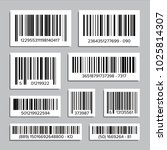 bar code set vector. upc bar... | Shutterstock .eps vector #1025814307