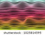 wavy stripes. trendy curve... | Shutterstock .eps vector #1025814595