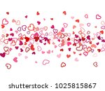 red valentine's day scatter of...   Shutterstock .eps vector #1025815867