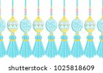 vector seamless border pattern. ... | Shutterstock .eps vector #1025818609