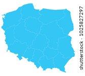 high detailed blue vector map   ...   Shutterstock .eps vector #1025827297
