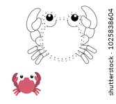 educational game for kids  dot... | Shutterstock .eps vector #1025838604